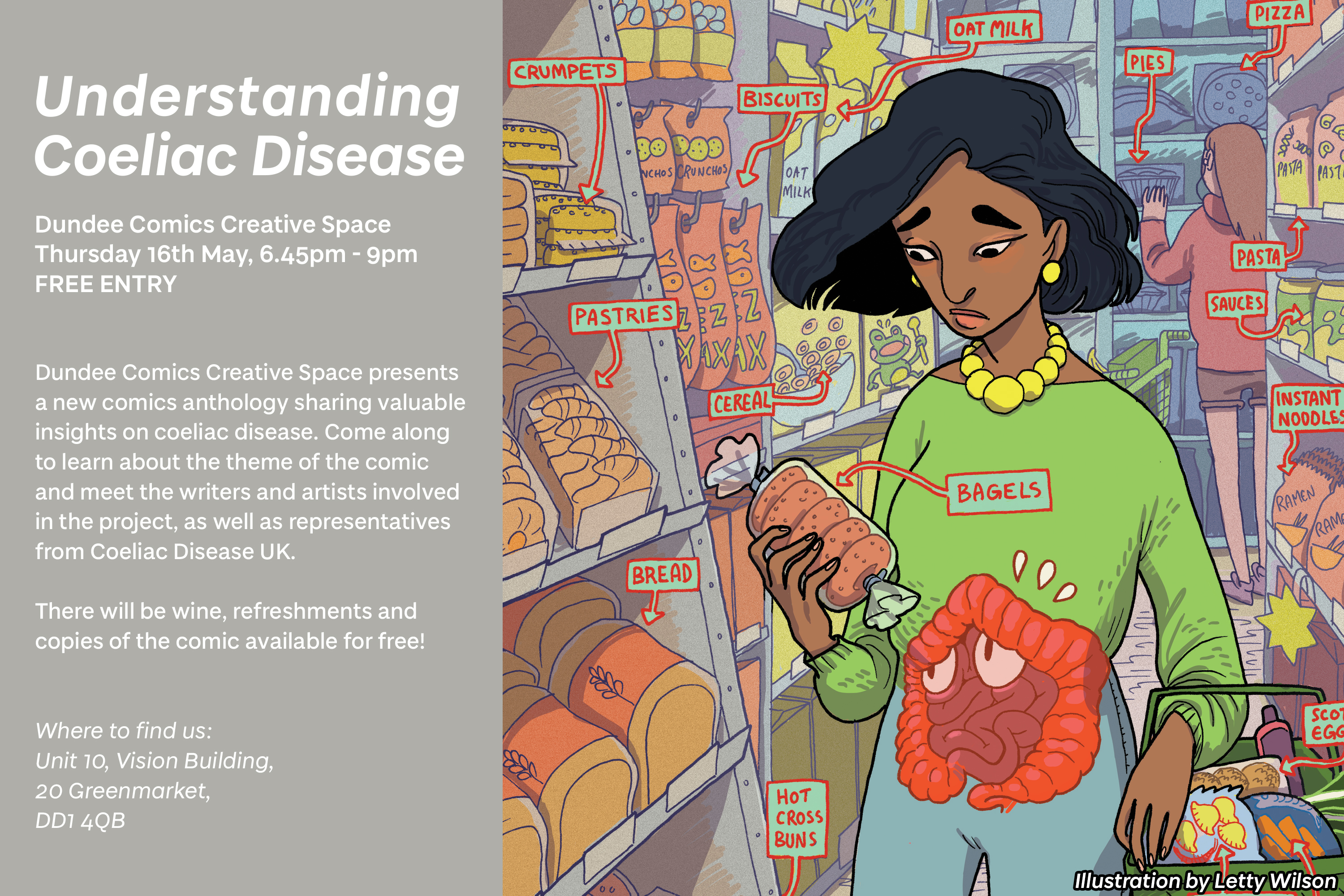 cf6b7a58fc3 We are excited to invite you to the launch of an original comics anthology,  Understanding Coeliac Disease. This comic brings together different  perspectives ...